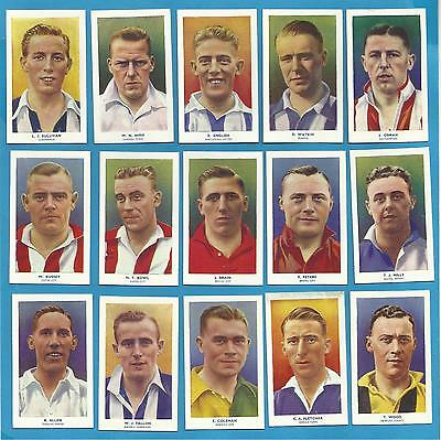 Original R & J Hill cigarette cards - FAMOUS FOOTBALLERS - 1939 Full set