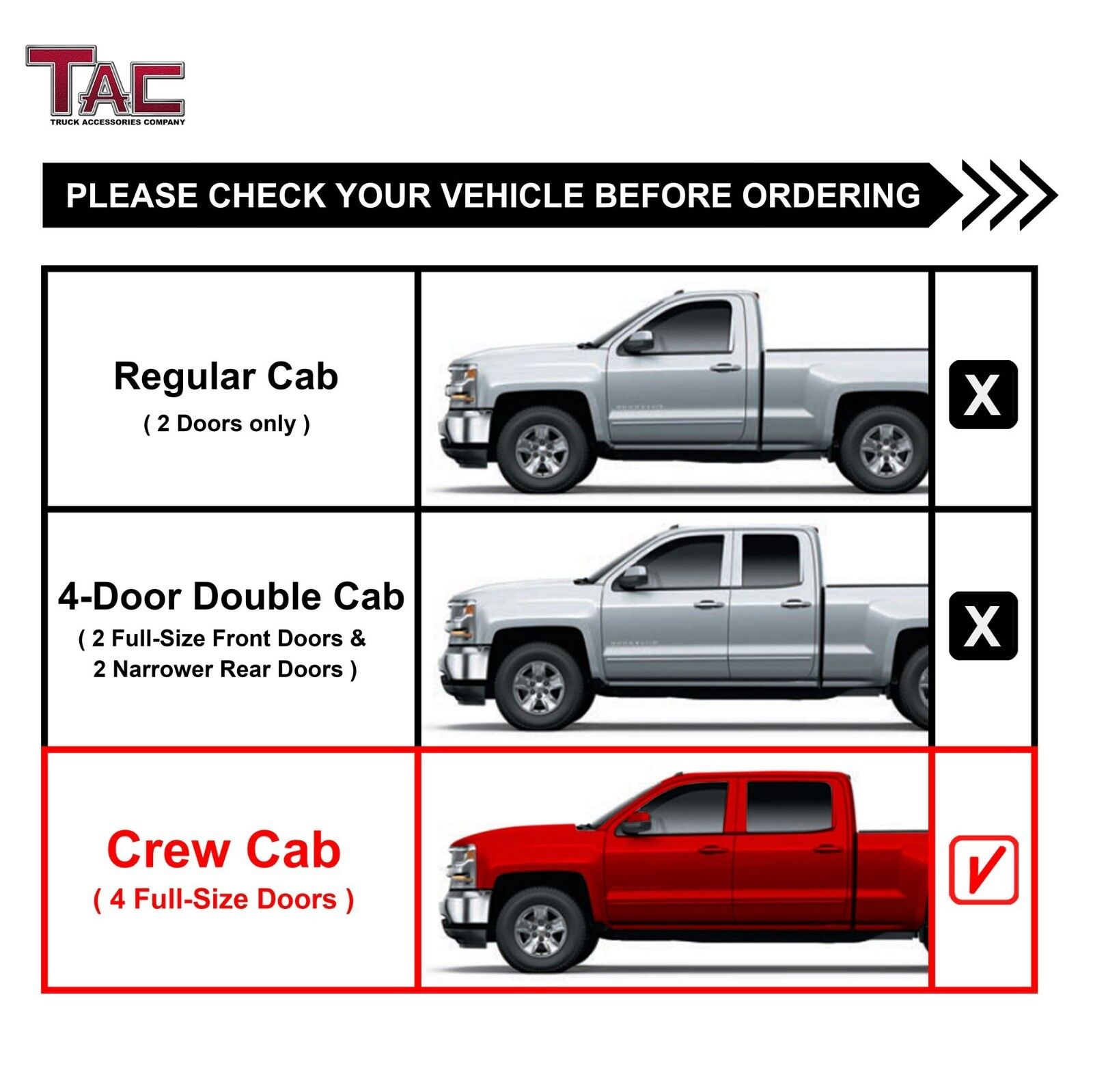 Works with 2019 Chevy Silverado 1500 Double//Crew Cab 6PC Stainless Pillar Post Trim MAXMATE Made in USA