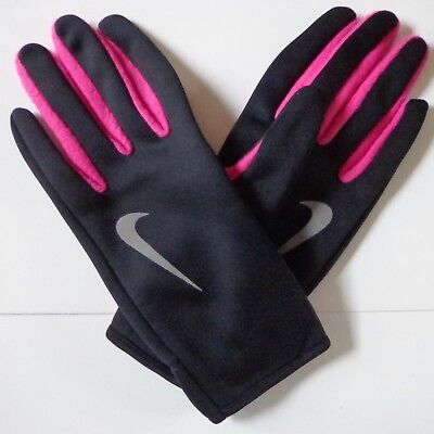 4f1aa184093 Nike Women s Run Thermal Gloves Reflective Silver Vivid Pink Black Large New