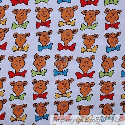 BonEful FABRIC Cotton Quilt White Red Blue Bar Ba Loot Dr Seuss Lorax Sale SCRAP - Baby Lorax Costume