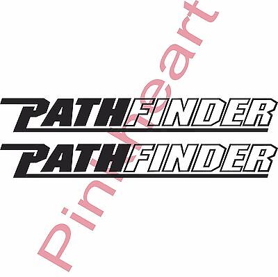 2- Pathfinder decals pair sticker decal boat flats path finder 4.1'' x 33'' USA