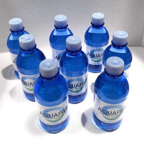 "AQUAPAP VAPOR DISTILLED WATER 8X12OZ BOTTLES (8 PACK) NEW ""FIRST QUALITY"""