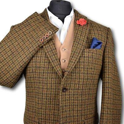 Harris Tweed Tailored Country Brown Blazer Jacket 44R #109 PRISTINE ITEM