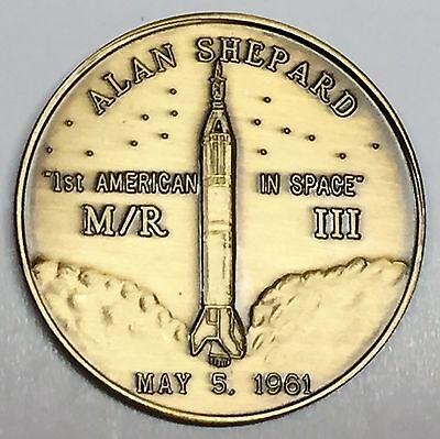 N203     NASA  SPACE   COIN / MEDAL,   MERCURY PROJECT M/R III,  ALAN  SHEPARD