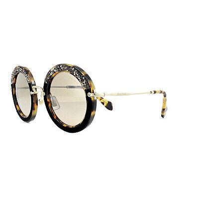 Miu Miu Sonnenbrille 08RS 7S04P0 Licht Havanna Braun Farbverlauf Spiegel