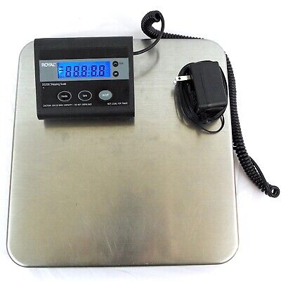 Royal DG200 Shipping Scale 200 lb. 90kg Capacity Battery or DC Power Preowned