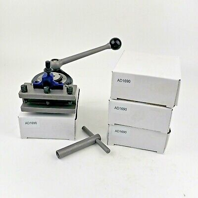 Multifix 40 Position Quick Change Tool Post A1 With 4 Pcs Ad1690 Turning Holders