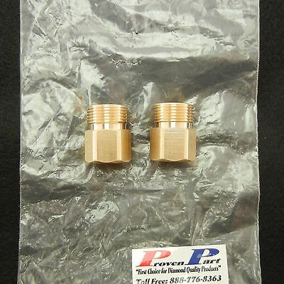 PRESSURE WASHER FITTING 1/4 FEMALE X M22 HIGH PRESSURE BRASS 2 IN KIT