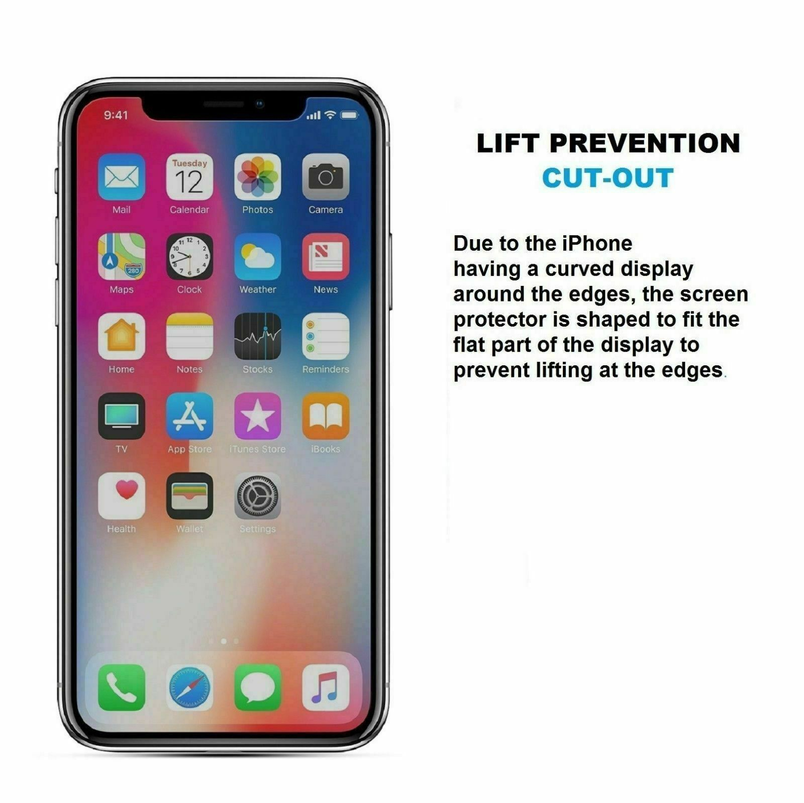 for iPhone 11 Pro Max X Xs XR 6s 7 8 6 Plus Screen Protector Tempered Glass Film Cell Phone Accessories