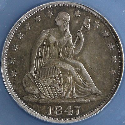 Click now to see the BUY IT NOW Price! 1847 O 50C LIBERTY SEATED HALF DOLLAR ANACS XF 45