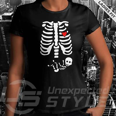 en T-Shirt Pumpkin Schwangerschaft Unisex Damen (Halloween Schwangerschaft Shirts)