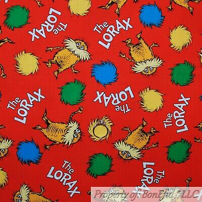 The Lorax Costume (BonEful FABRIC FQ Cotton Quilt Red Dr Seuss The Lorax Movie Book Baby Boy Girl)
