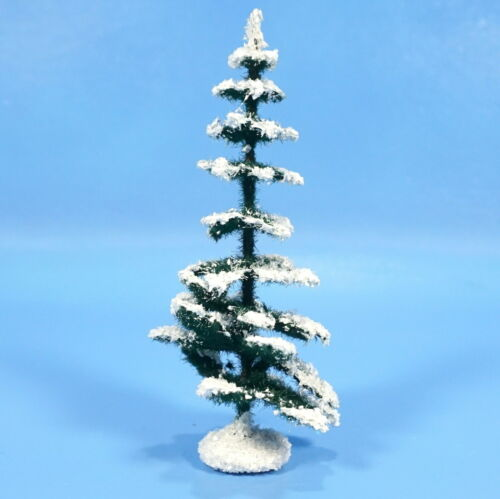 "5"" German Paper Mache Nativity XMAS TREE c1930s Green White Manger Creche Folk"