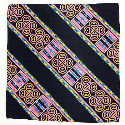 100% Silk Mens Pocket Square Hanky Rush Limbaugh No Boundaries Pretzel Pink New