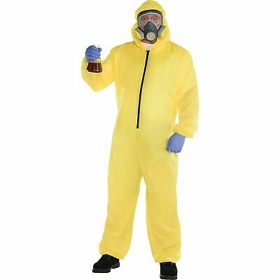 Hazmat Suit Halloween Costume for Men, Plus Size, Includes Jumper and Mask