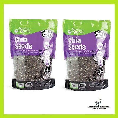 Absolute Organic Black Chia Seeds, 1 kg x 2 bags