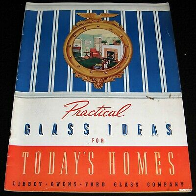 GLASS IDEAS FOR TODAY'S HOMES 1942 CATALOG LIBBEY OWENS FORD WINDOWS COMPANY (Catalog Party Ideas)