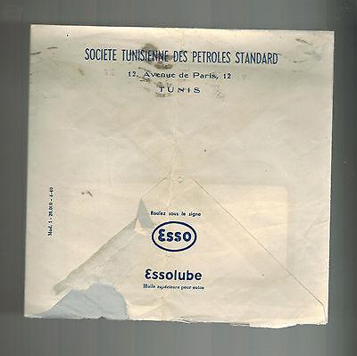1943 Tunisia airmail cover Window Envelope Esso Standard oil Petroleum Company