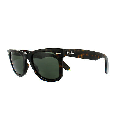 Ray-Ban Sunglasses Wayfarer 2140 902 Tortoise Green G-15 Medium 50mm