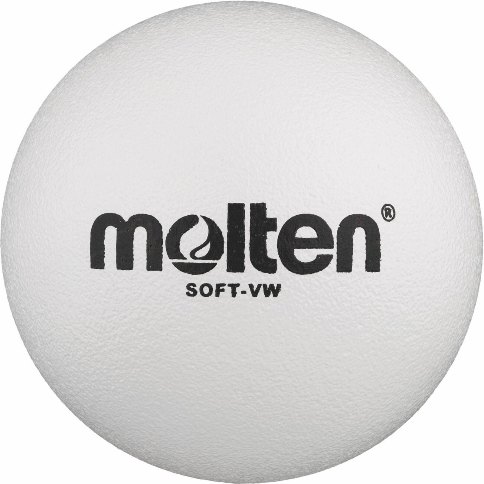 Molten Schaumstoffball Volleyball Softball Schaumball Spielball für Kinder weiß