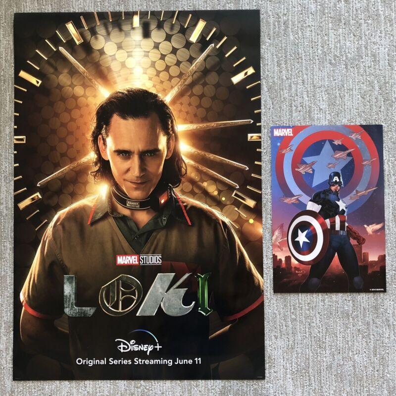 Marvel Studios LOKI Original 27x40 Double Sided Teaser Poster Avengers Disney+