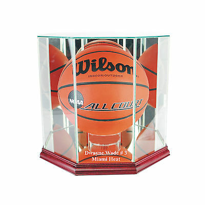 - Dwayne Wade Miami Heat Glass Basketball Display Case Free Shipping UV NBA NCAA