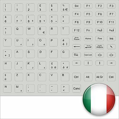 TASTATURAUFKLEBER ITALIENISCH GRAU GREY ITALY KEYSTICK ALL KEYS F. FSC ASUS SONY gebraucht kaufen  Nürnberg