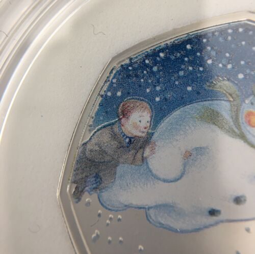 2018 The Snowman 50p Colourised Silver Proof Coin *Error Coin*