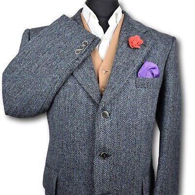 Harris Tweed Tailored Country Herringbone Blazer Jacket 44R SUPERB COLOUR 209