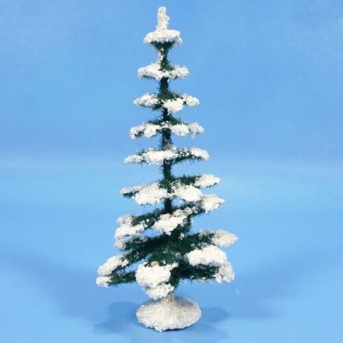 "German 5"" Paper Mache Nativity XMAS TREES c1930s Green White Manger Creche Folk"
