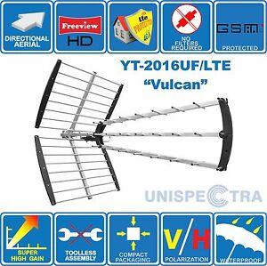 VULCAN – 4G/LTE READY SUPER HIGH GAIN  DIGITAL HD TV AERIAL ANTENNA FOR FREEVIEW