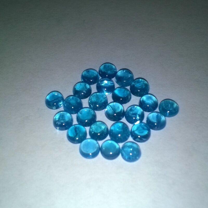 Neon Apatite 4mm Round Cabochon Loose Gemstone w/ Multi-Purchase Discount
