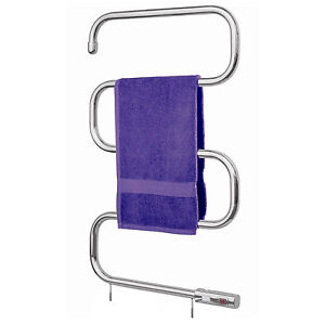 VonHaus Chrome Electric Towel Rail / Heater / Radiator – Wall Mount & Free Stand