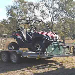 2014 CFMOTO Zforce plus 2t  car trailer. Swap Barmoya Rockhampton Surrounds Preview