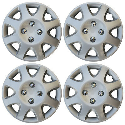 "4 Piece Set 14"" Inch Hub Cap Silver Skin Rim Cover for Steel Wheel Covers Caps for sale  Columbus"