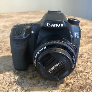Canon 70D with loaded gear.