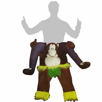 Carry-me Kostüm Huckepack trag mich - Affe mit Lendenschutz Fasching Karneval - Kostüm Tragen