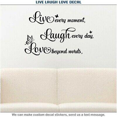 Live Laugh Love Quote Wall Art Stickers Vinyl Home Decor Mural Deco Decal 038 Art Deco Murals