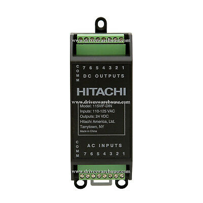 Hitachi 115vif-din2 115vac Input Interface Module 24vdc Output Logic For Vfds