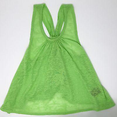 Girl's Urban Groove Open Back Dance Tank Size Medium Child Bright Green