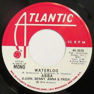 "ABBA Waterloo ATLANTIC 45 promo 1974 Near Mint 7"" HEAR"