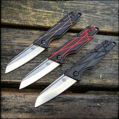 - StatGear Ledge Slip-Joint Pocket Folding Knife - D2 Steel G10 Handle EDC Knives