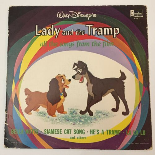 Disney Lady and the Tramp LP record