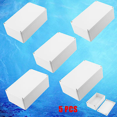 5pc Electronic Junction Project Box Enclosure Case Waterproof 7.87x4.72x2.95