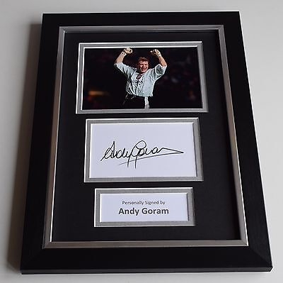 Andy Goram Signed A4 FRAMED photo Autograph display Rangers Football PROOF COA