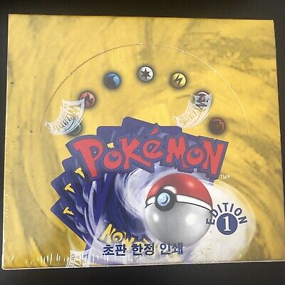 Pokemon Base Set Korean 1st Edition Booster Box - MINT Sealed