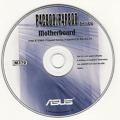 ASUS P4C800 DELX & P4C800-E DELUXE Motherboard Drivers Installation Disk M370 - Asus P4c800 Deluxe Motherboard