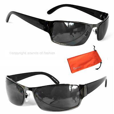 Coole Herren Sonnenbrille Schwarz Schmale Sport Brille Security Design 628sw2