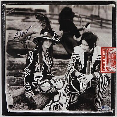 Jack White White Stripes Beckett Signed Autograph Record Album Icky Thump for sale  Shipping to Canada