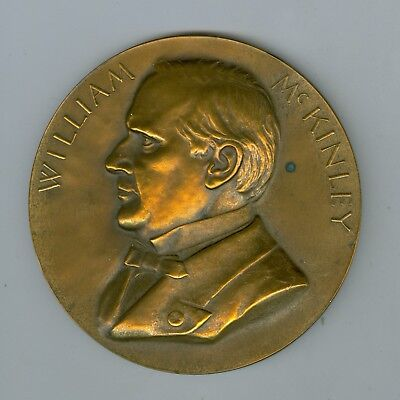 "Pres William McKinley Inaugurated Mar 1897 & Assassinated Sept, 1901 3"" BZ Medal"